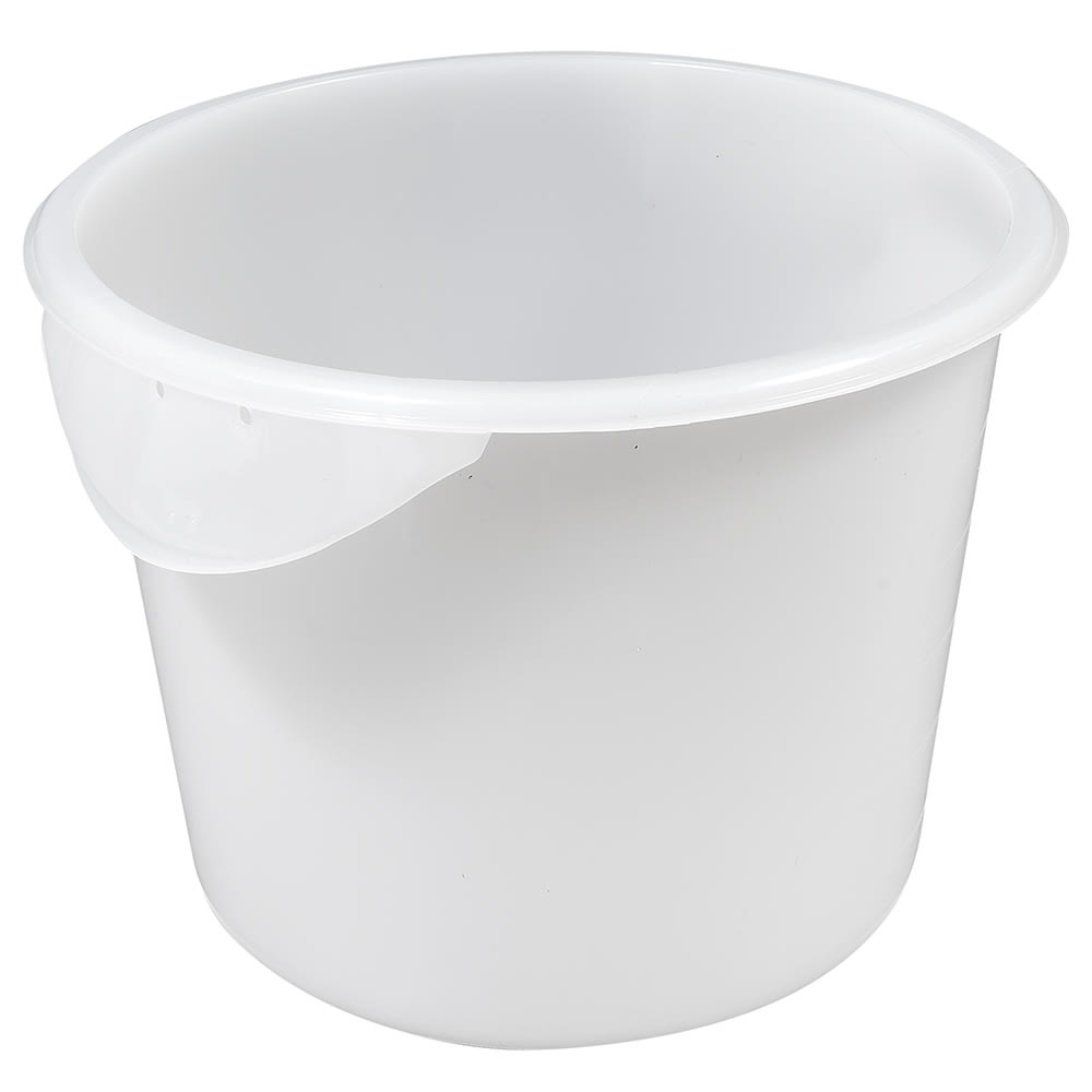 Rubbermaid FG572300WHT 6-qt Round Storage Container - White Poly