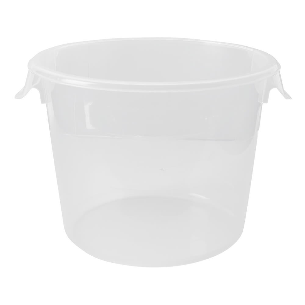 Rubbermaid FG572324CLR 6 qt Round Storage Container - Clear Poly