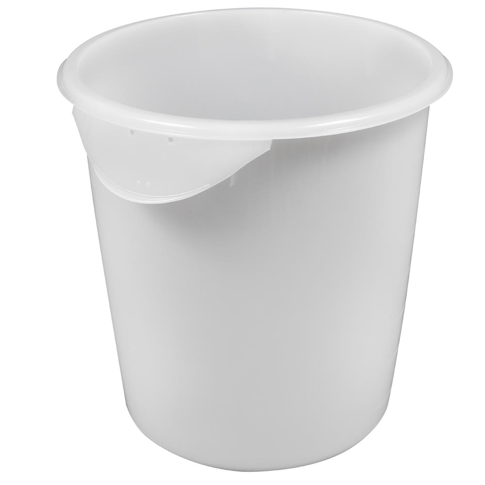 Rubbermaid FG572400WHT 8-qt Round Storage Container - White Poly