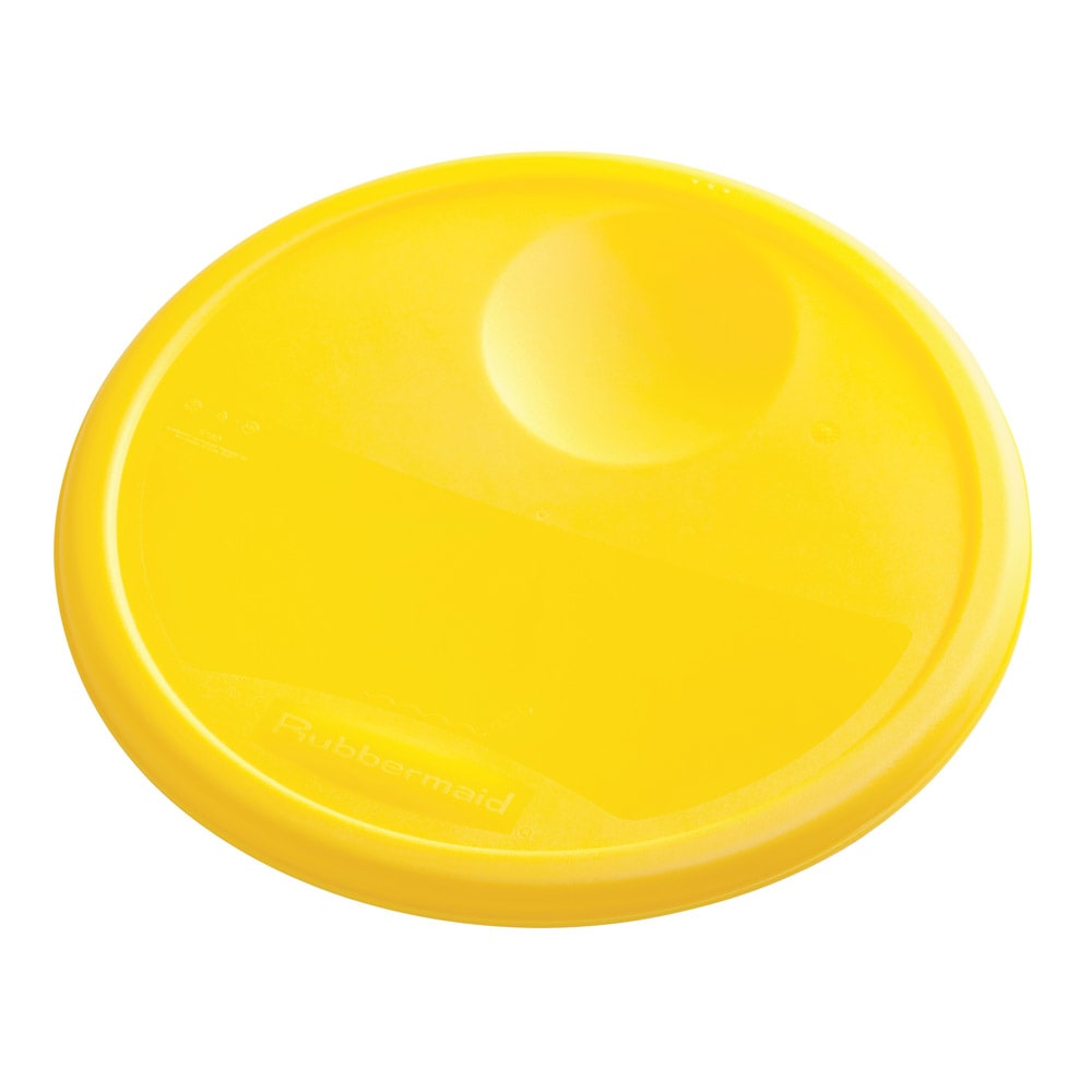 "Rubbermaid FG572500YEL 10-1/4"" Round Storage Container Lid - Yellow Poly"