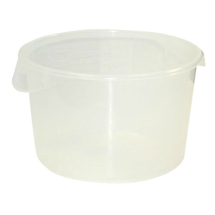 Rubbermaid FG572600WHT 12 qt Round Storage Container - White Poly