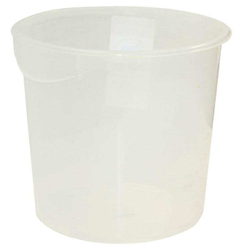 Rubbermaid FG572700WHT 18 qt Round Storage Container White Poly