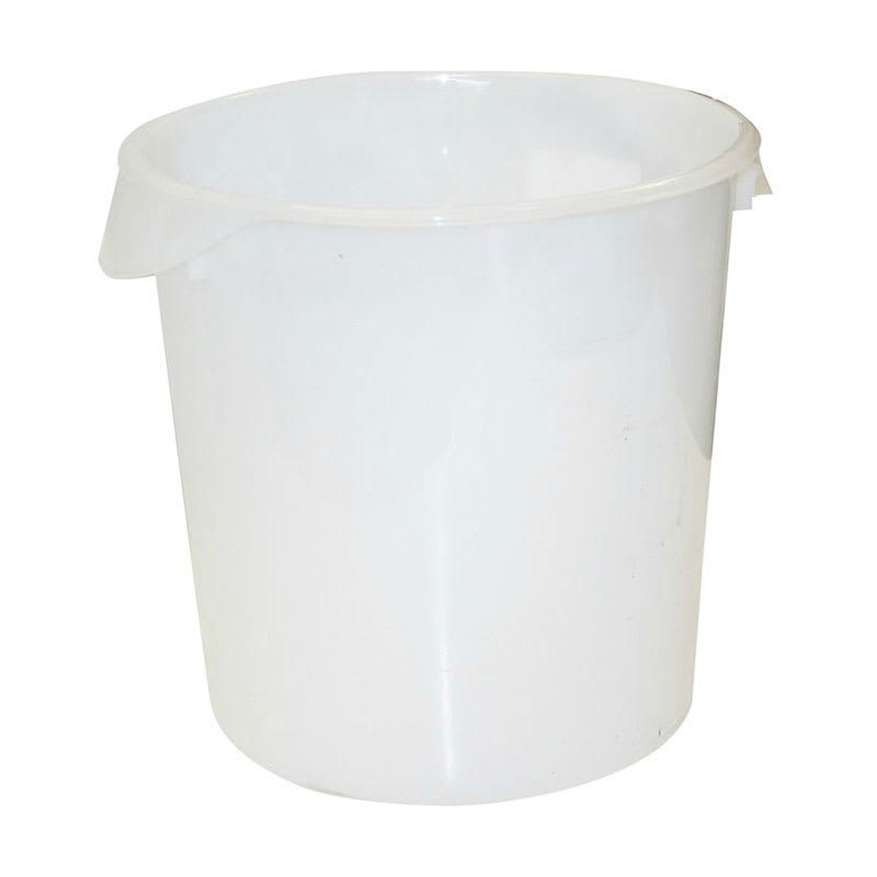 Rubbermaid FG572800WHT 22 qt Round Storage Container - White Poly