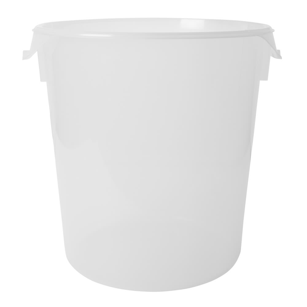 Rubbermaid FG572824CLR 22 qt Round Storage Container - Clear Poly