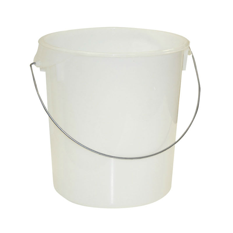 Rubbermaid FG572900WHT 22-qt Round Storage Container - Removable Bail, White Poly