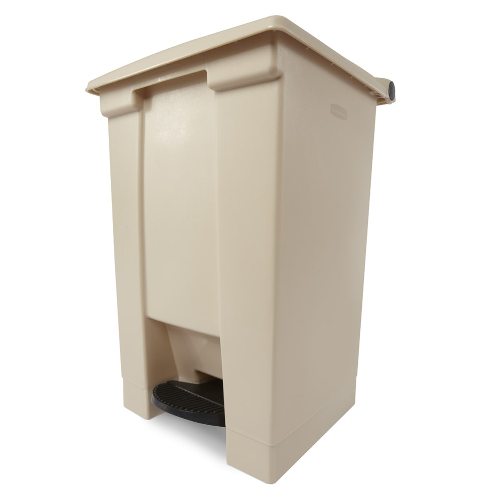 Rubbermaid FG614400BEIG 12 gal Step-On Container - Beige