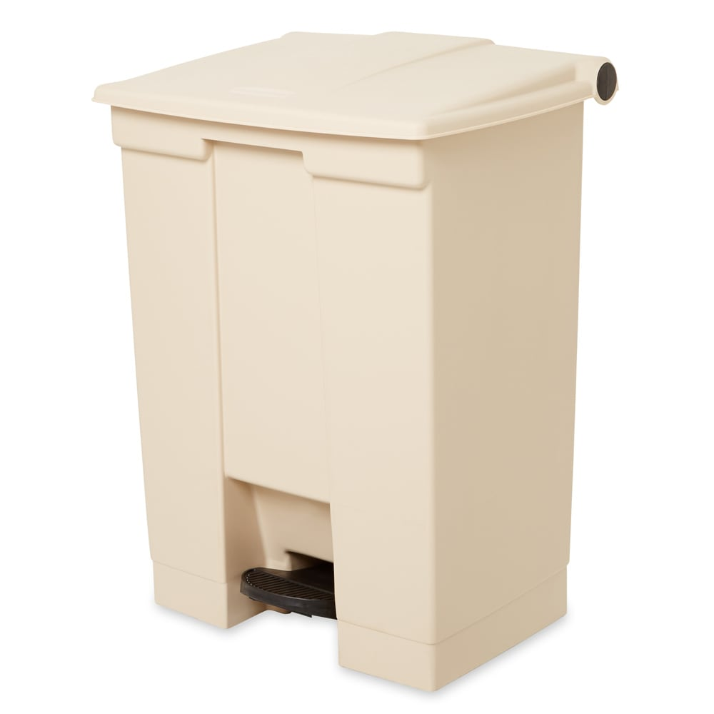 Rubbermaid FG614500BEIG 18 gal Step-On Container - Beige