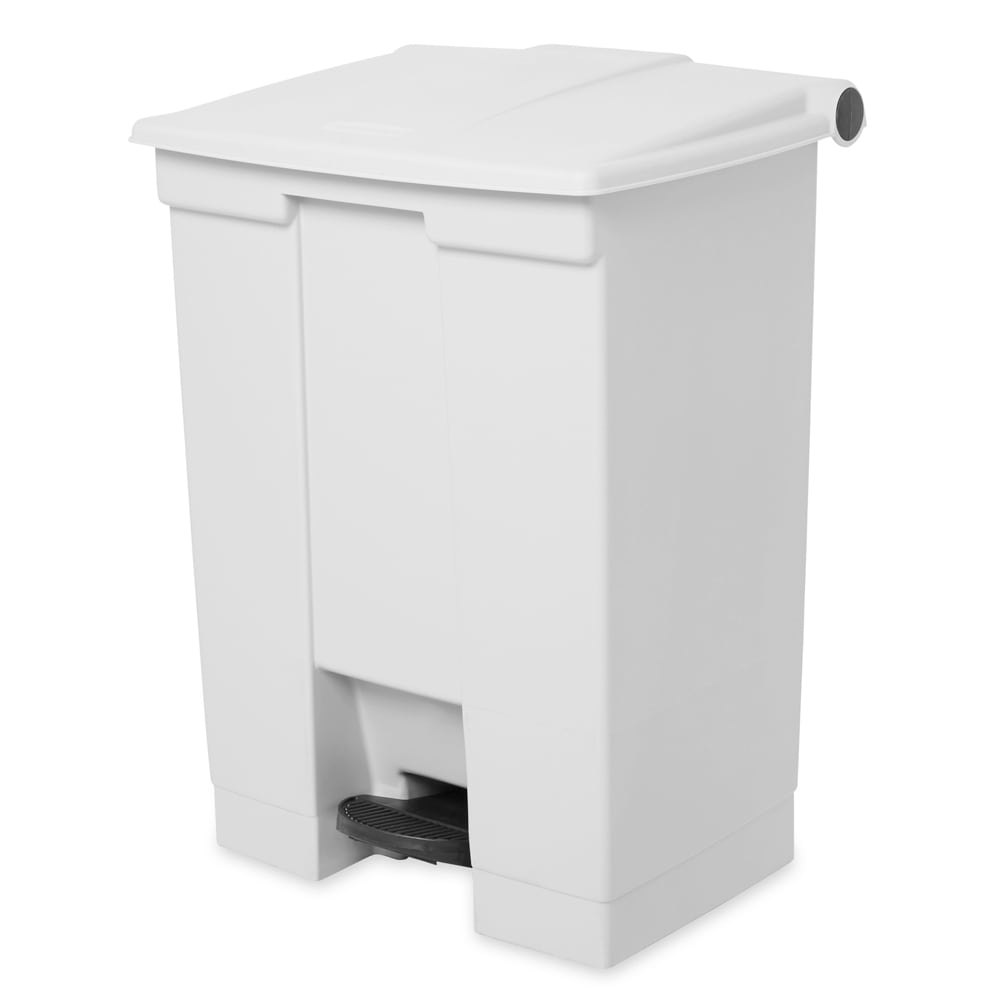 Rubbermaid FG614500WHT 18-gal Step-On Container - White