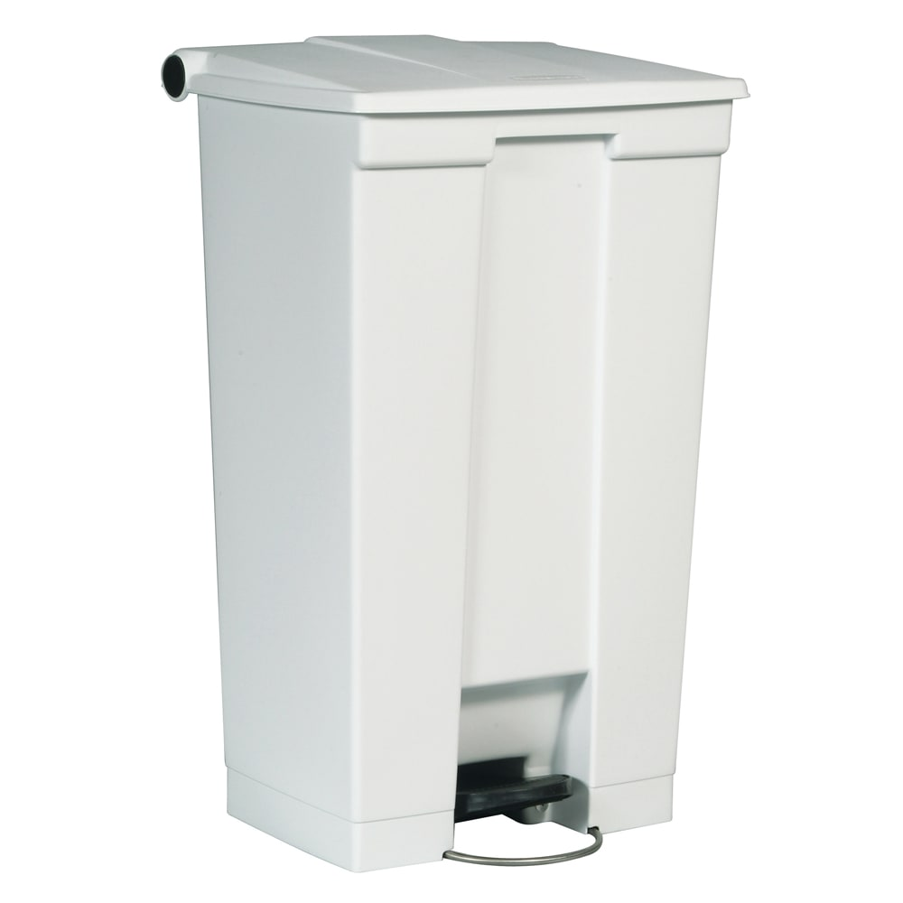 Rubbermaid FG614600WHT 23-gal Step-On Container - White