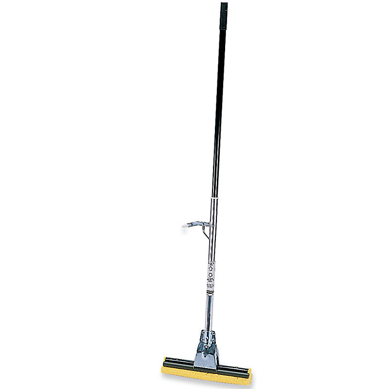 "Rubbermaid FG643500BRNZ 12"" Steel Roller Sponge Mop - Cellulose Head, Bronze"