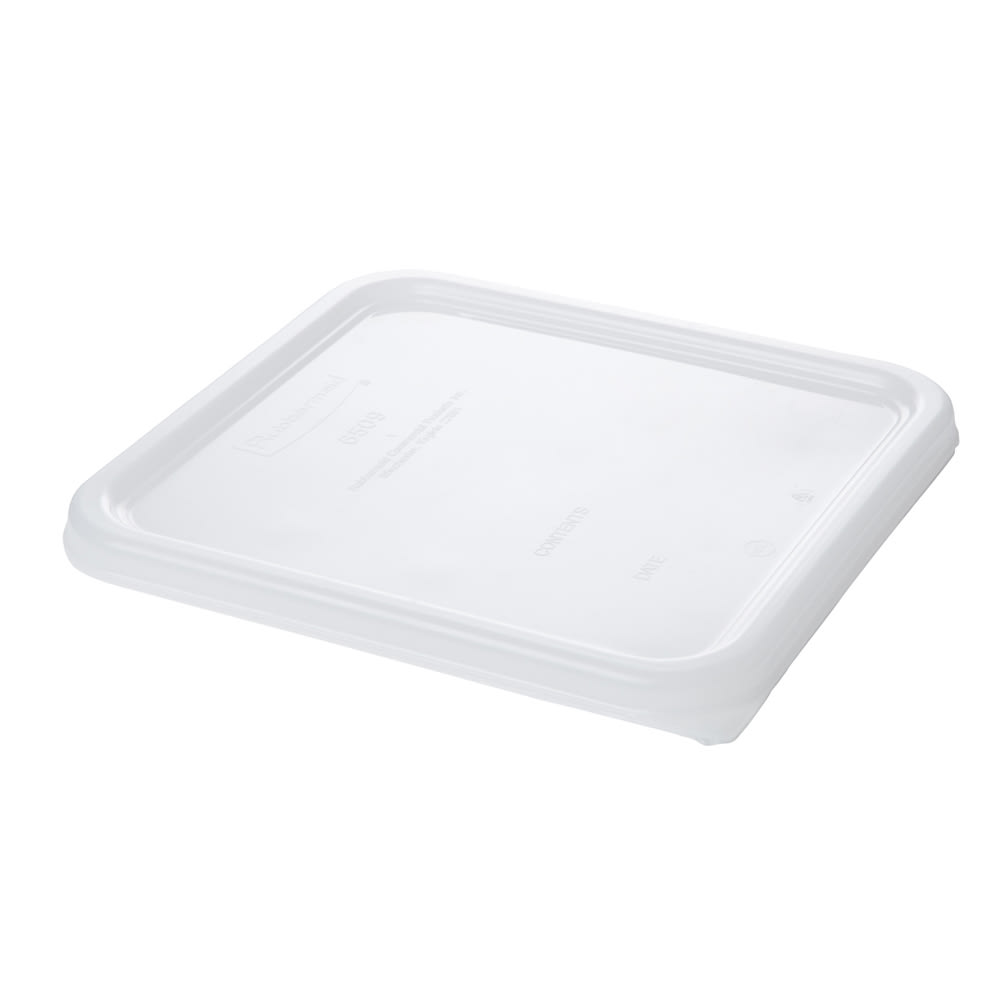 "Rubbermaid FG650900WHT 8-3/4"" Square Space Saver Lid - White Poly"