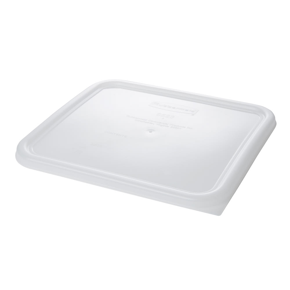 "Rubbermaid FG652300WHT 11 5/16"" Square Space Saver Lid - White Poly"