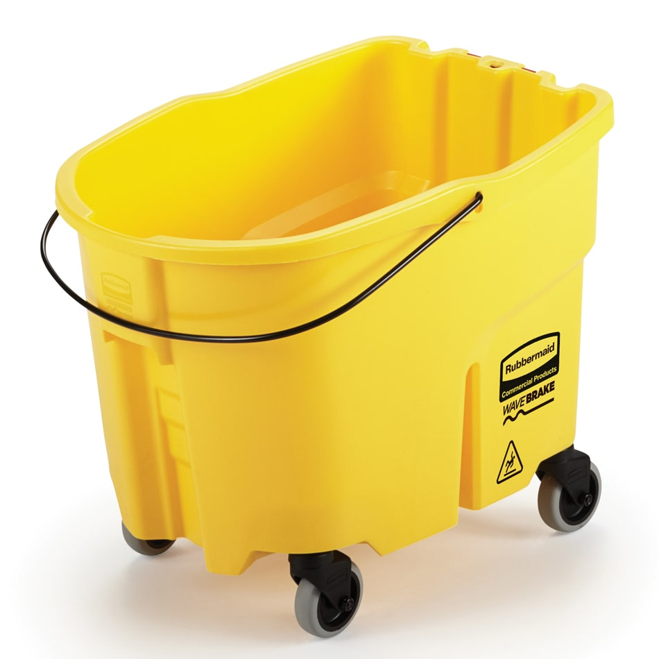 Rubbermaid FG747000YEL 26-qt WaveBrake Bucket - Castor Kit, Yellow