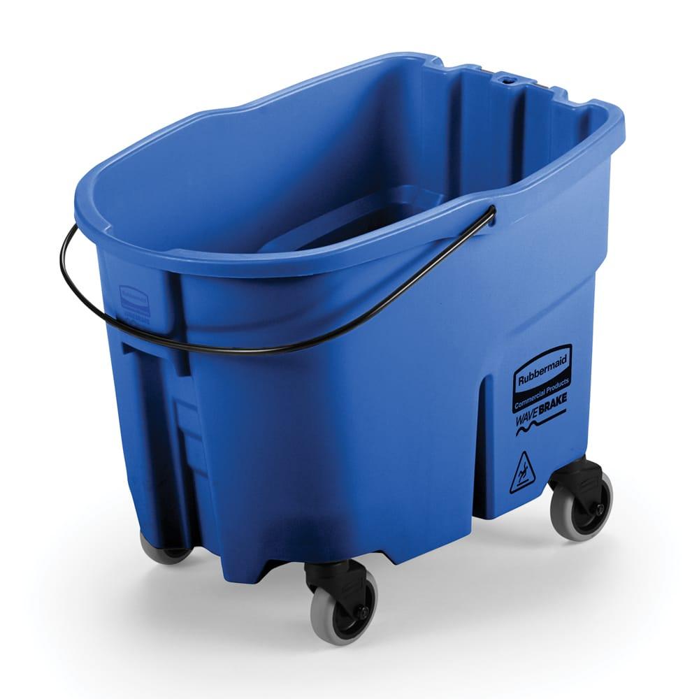 Rubbermaid FG757088BLUE 35 qt WaveBrake Bucket - Caster Kit, Blue