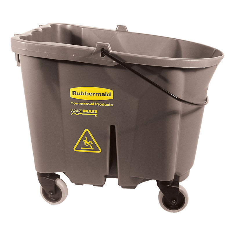 Rubbermaid FG757088BRN 35-qt WaveBrake Bucket - Castor Kit, Brown