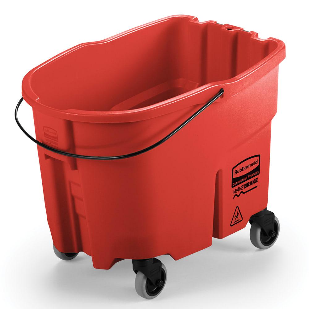 Rubbermaid FG757088RED 35 qt WaveBrake Bucket - Caster Kit, Red