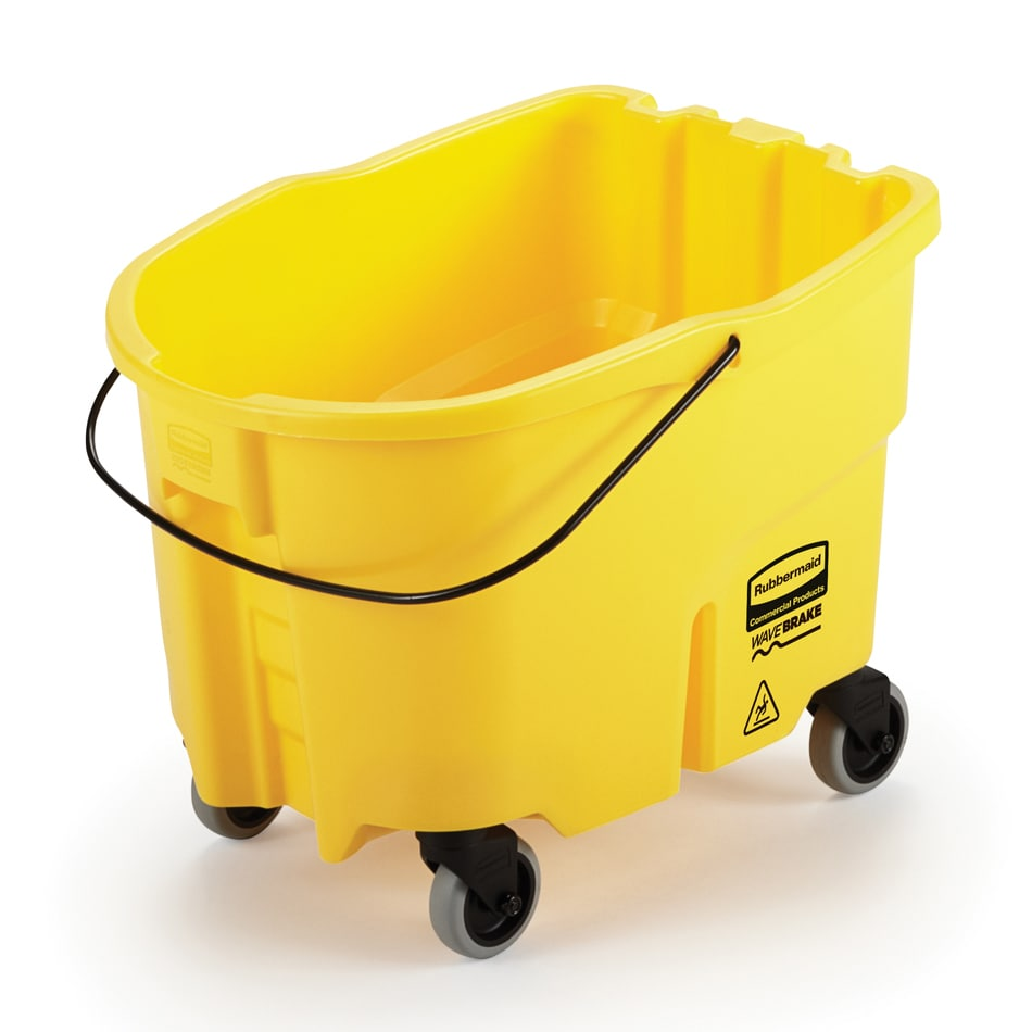 Rubbermaid FG757088YEL 35 qt WaveBrake Bucket - Caster Kit, Yellow