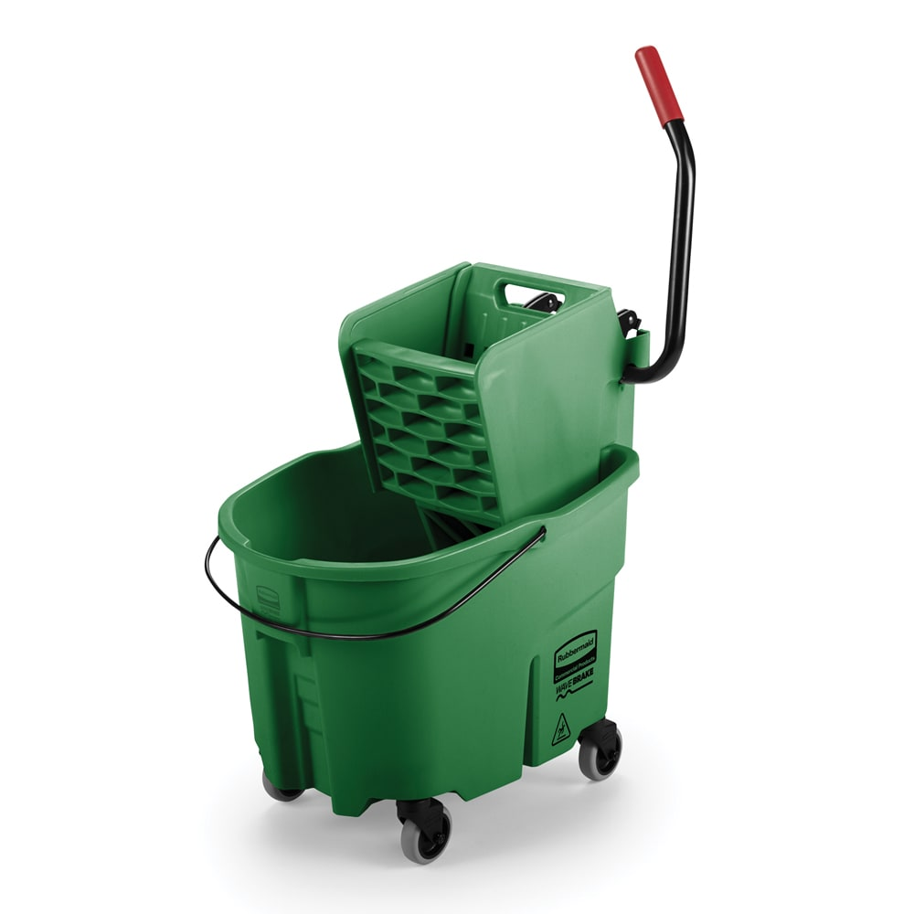 Rubbermaid FG758888GRN 35 qt WaveBrake Specialty Mopping Combo - Side Press, Green