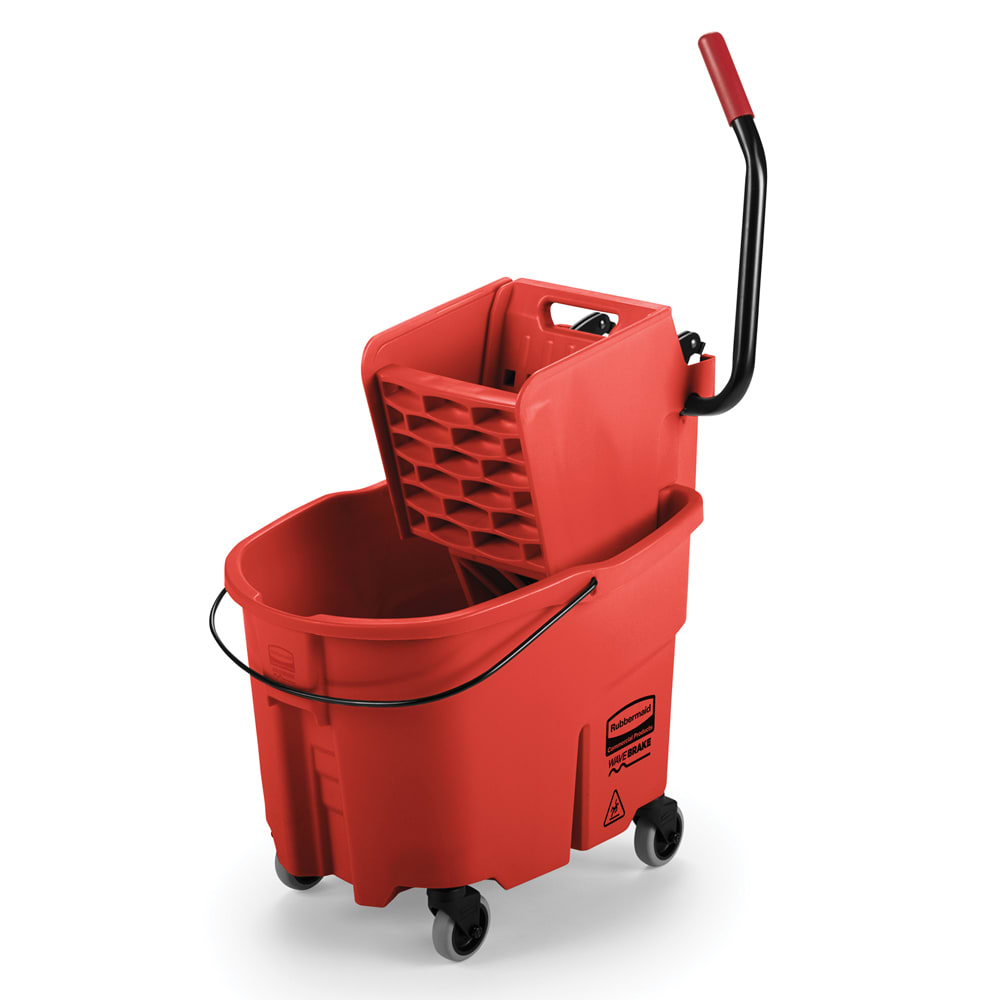 Rubbermaid FG758888RED 35 qt WaveBrake Specialty Mopping Combo - Side Press, Red