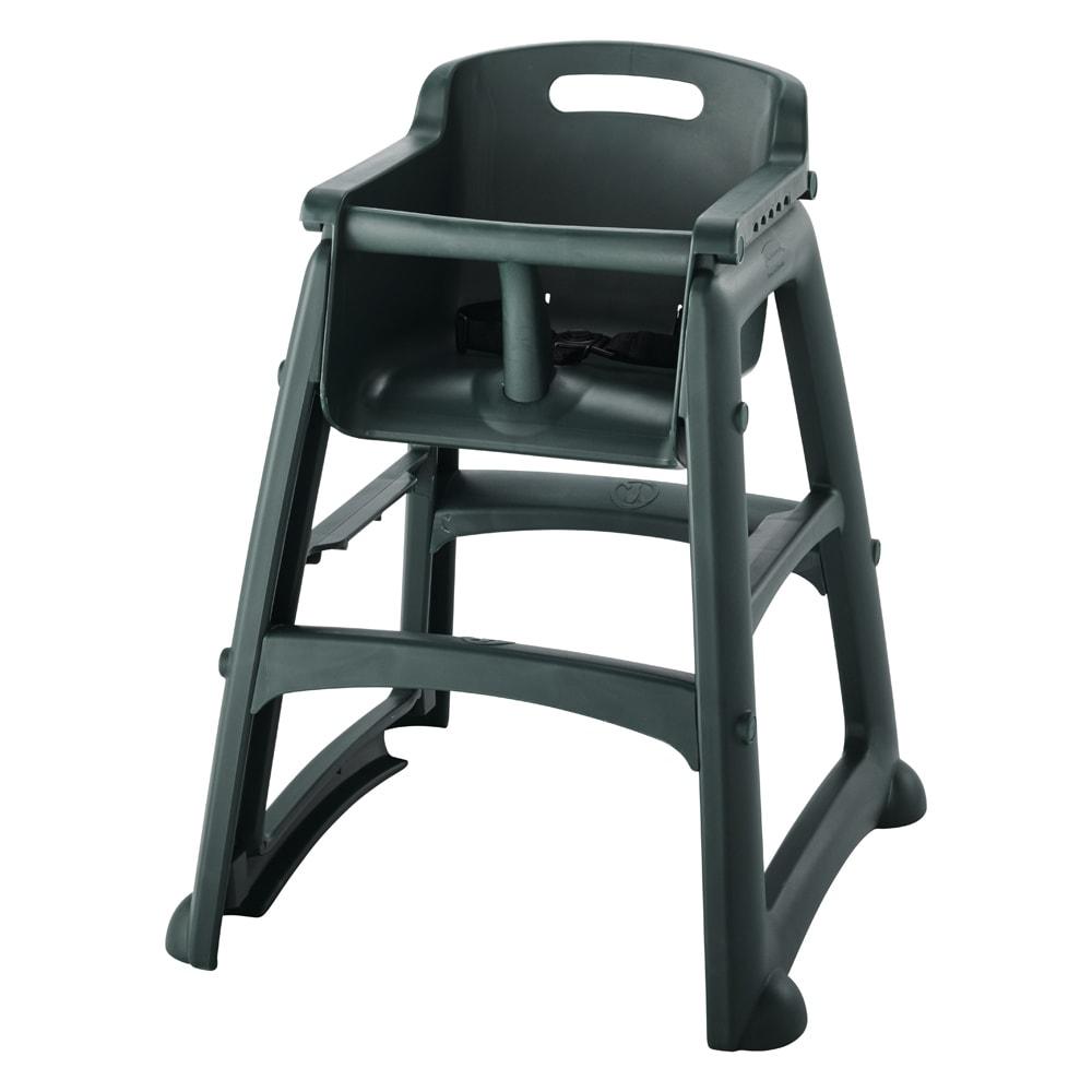 "Rubbermaid FG780608DGRN 29.75"" Stackable High Chair w/ Waist Strap - Plastic, Dark Green"