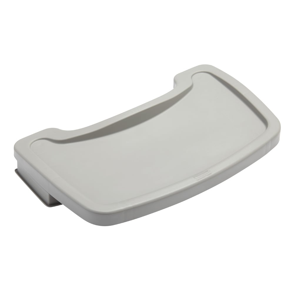 Rubbermaid FG781588PLAT Tray for Sturdy Chair Youth Seat, Platinum