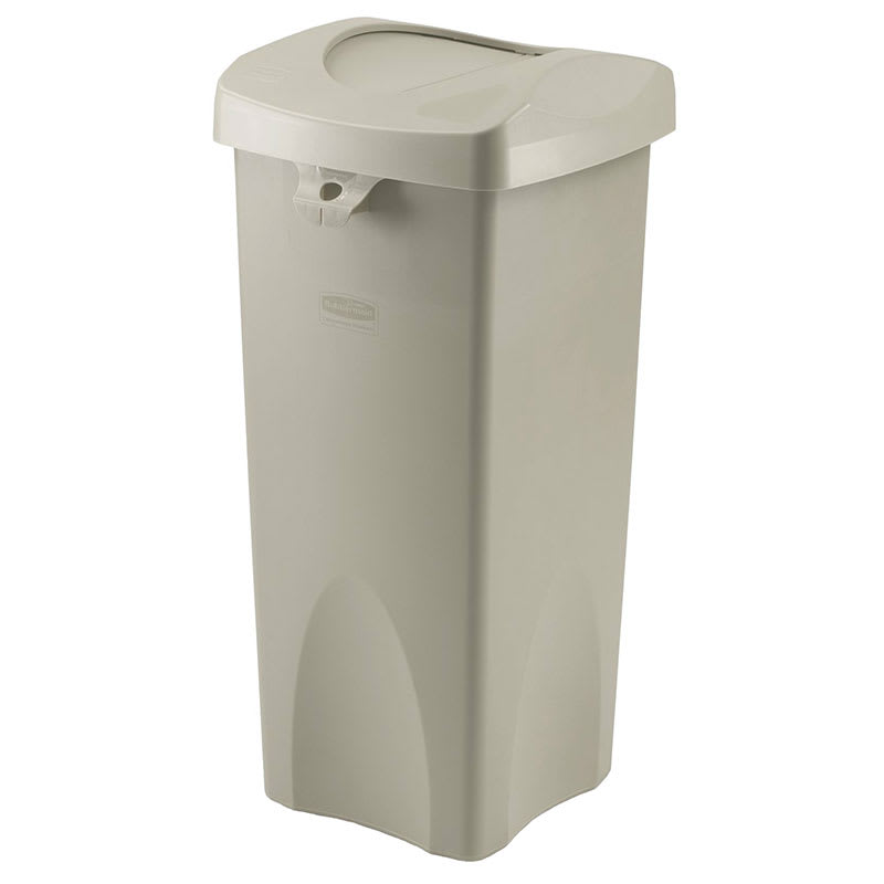 Rubbermaid FG792020BEIG 23-gal Indoor Decorative Trash Can - Plastic, Beige