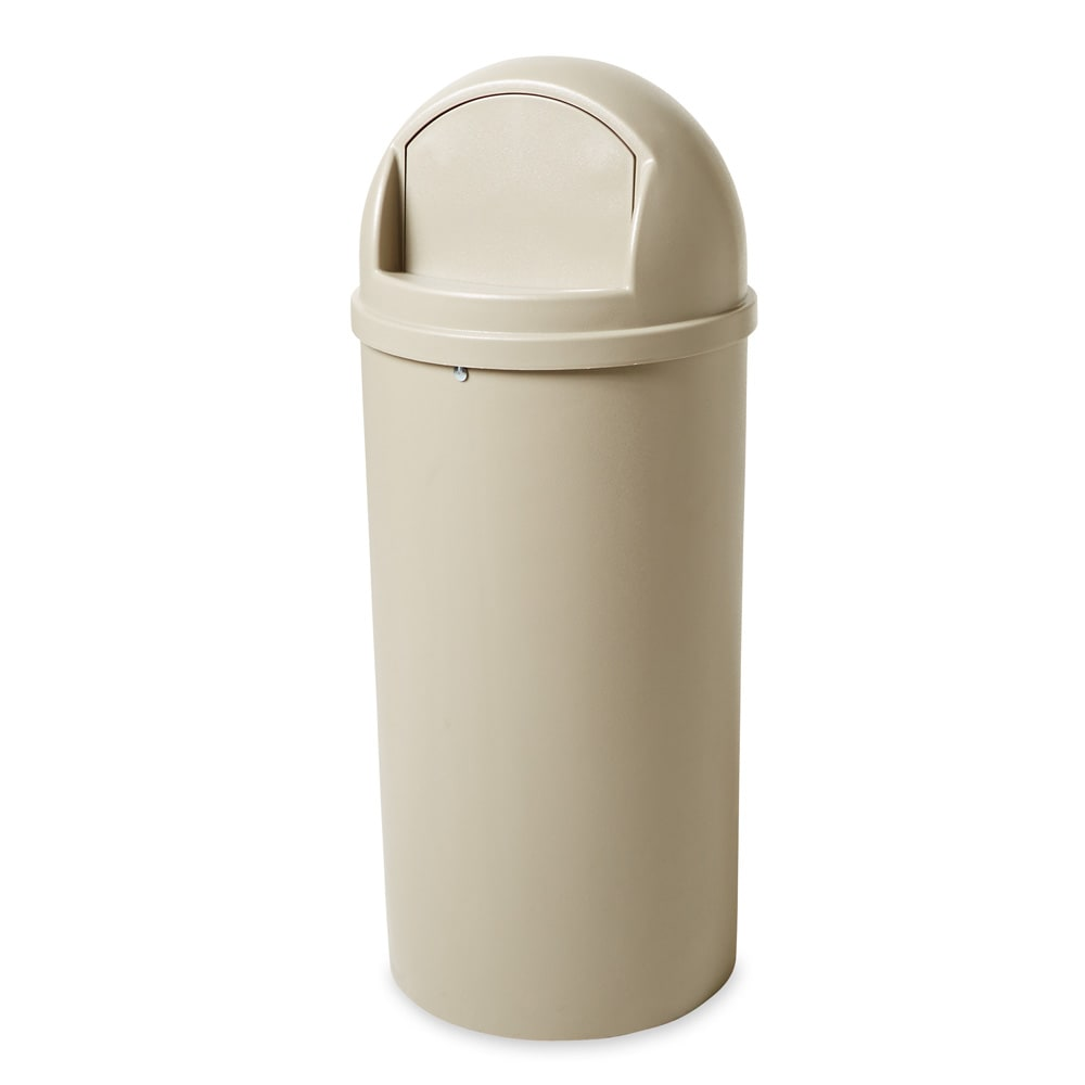 Rubbermaid FG816088BEIG 15-gal Indoor Decorative Trash Can - Plastic, Beige