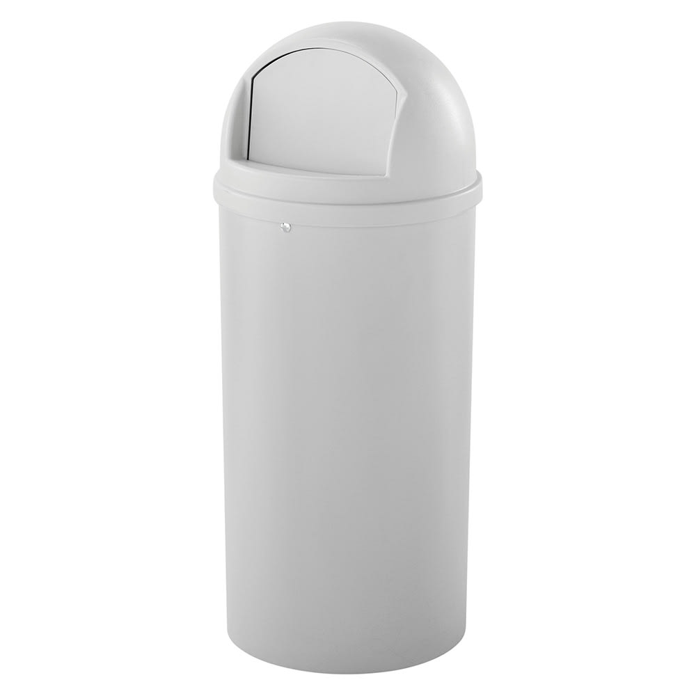 Rubbermaid FG816088OWHT 15 gal Indoor Decorative Trash Can - Plastic, Off White