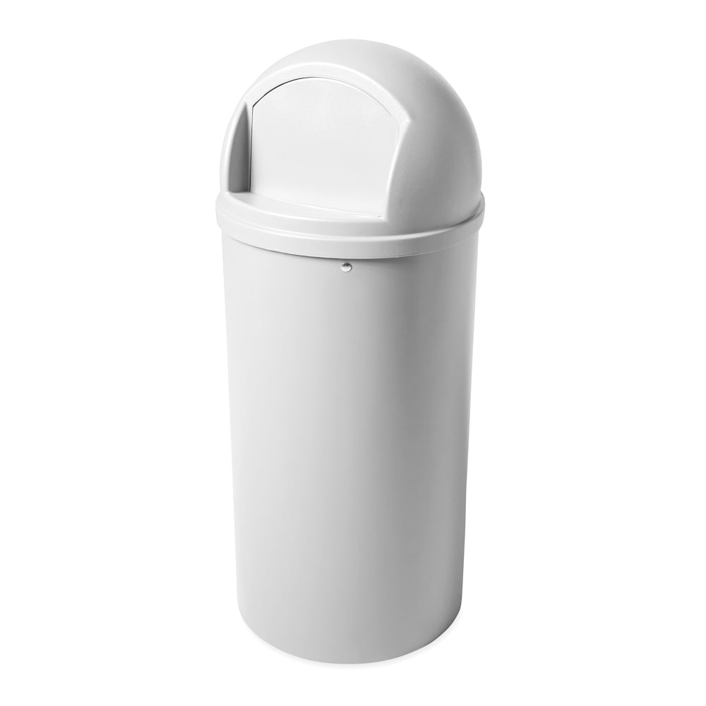 Rubbermaid FG817088OWHT 25 gal Indoor Decorative Trash Can - Plastic, Off White