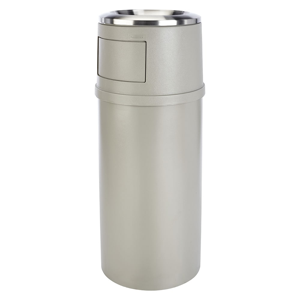 Rubbermaid FG818088BEIG Trash Can Top Cigarette Receptacle - Decorative Finish