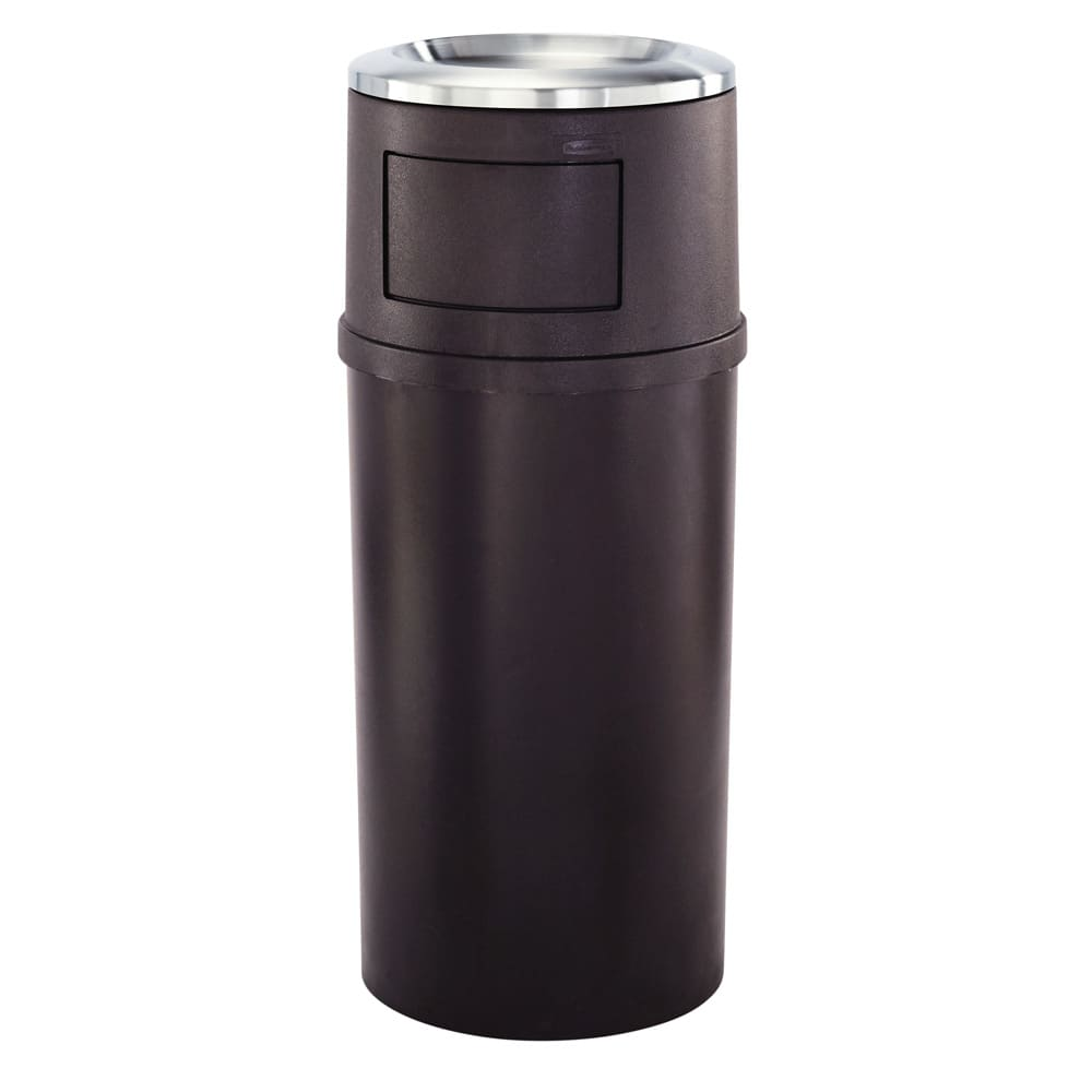 Rubbermaid FG818088BRN Trash Can Top Cigarette Receptacle - Decorative Finish