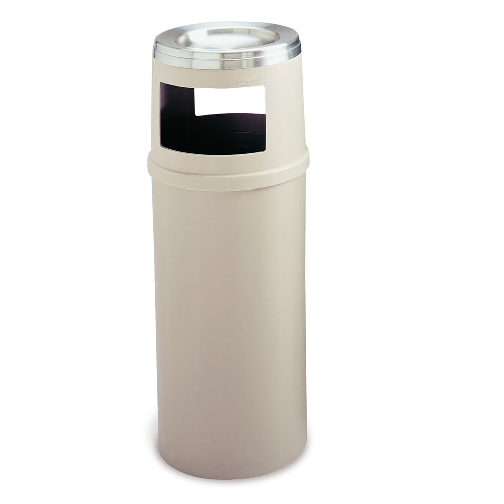 Rubbermaid FG818588BEIG Trash Can Top Cigarette Receptacle - Decorative Finish