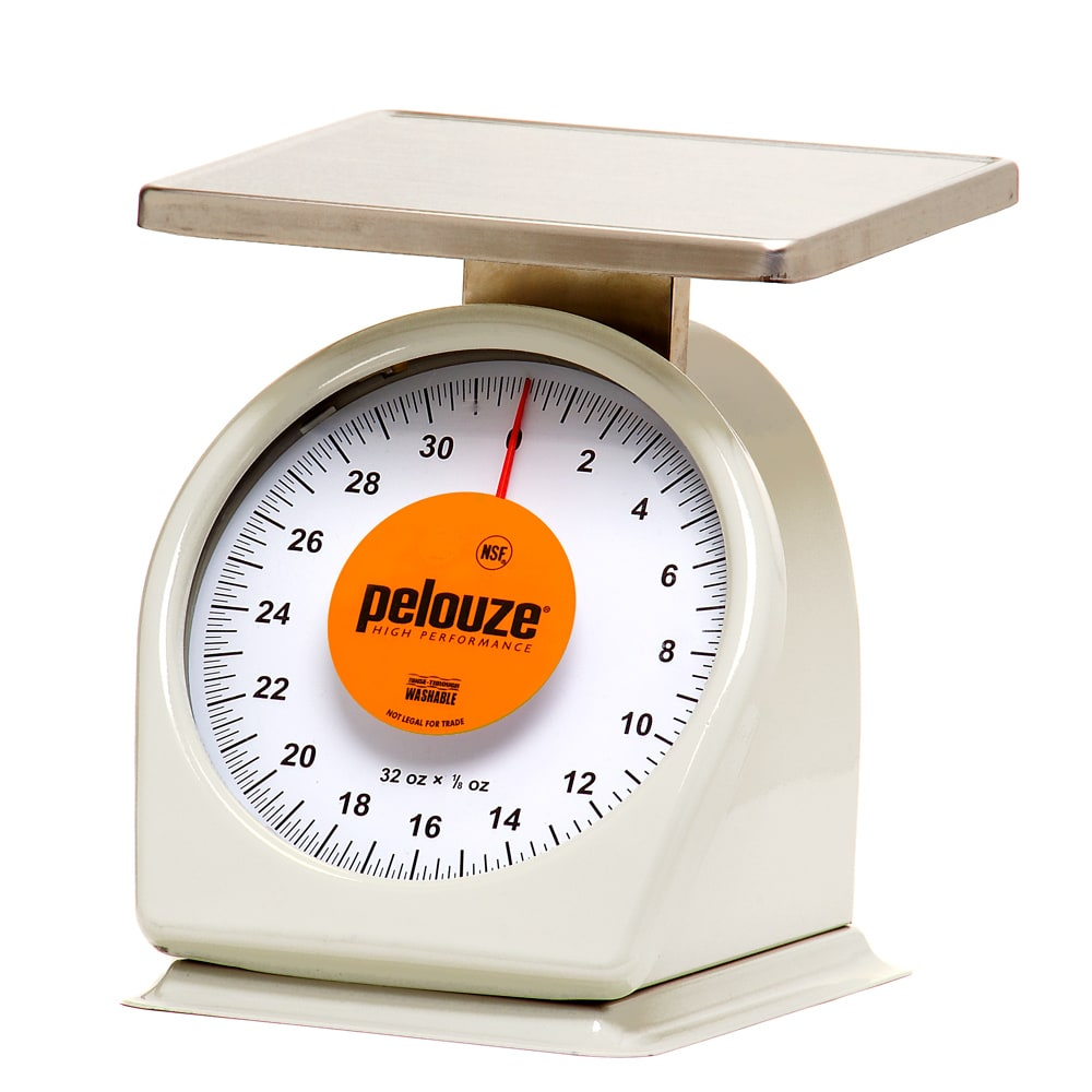 Rubbermaid FG832W Pelouze Portion Scale - Counter Model, Orange Lens, 32 oz x 1/8 oz, Steel