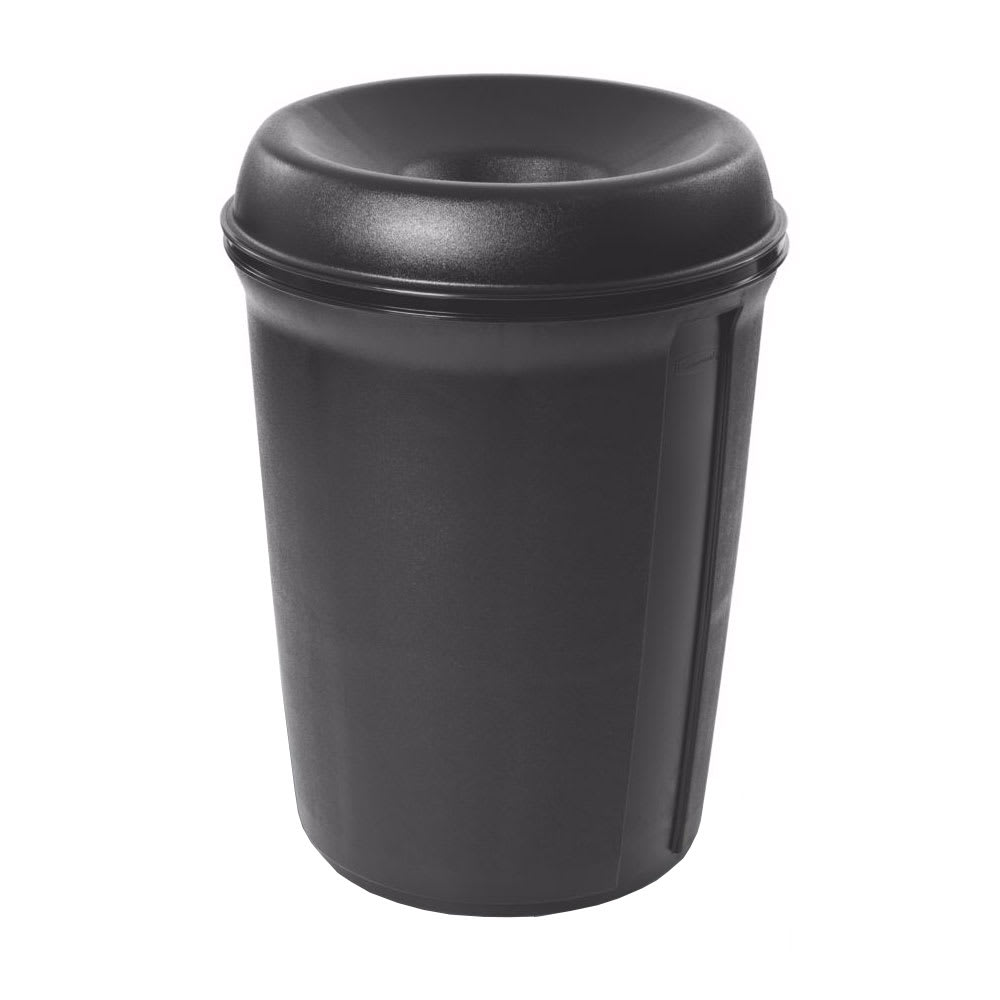 Rubbermaid FG905800BLA 35-gal Indoor Decorative Trash Can - Plastic, Black