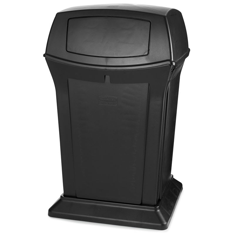 Rubbermaid FG917188BLA 45 gal Outdoor Decorative Trash Can - Plastic, Black