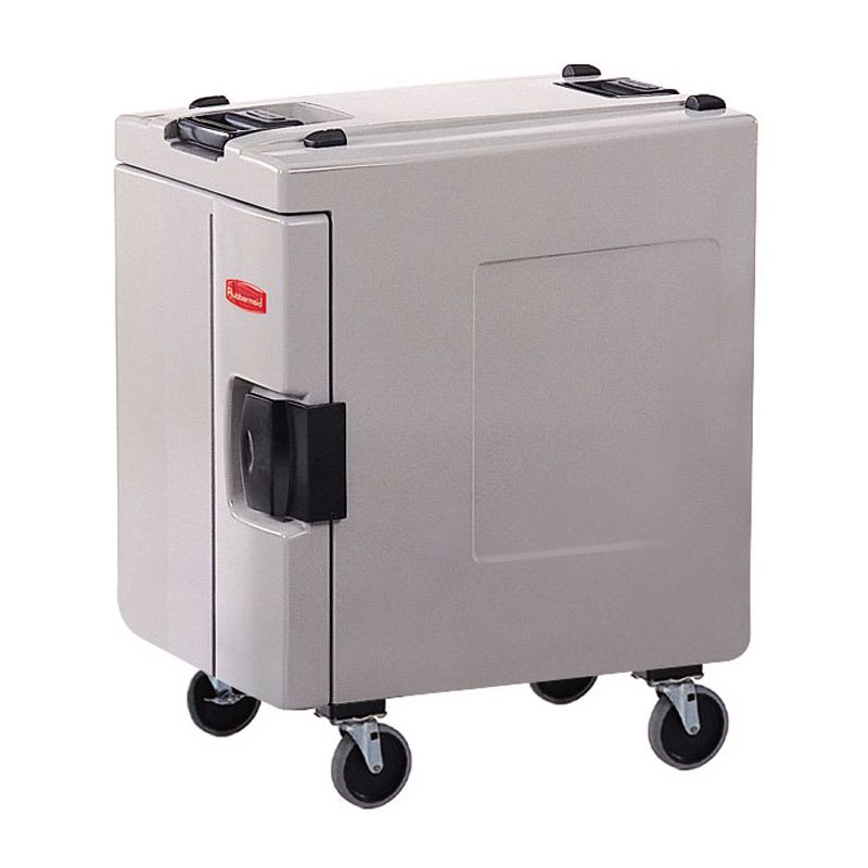 Rubbermaid FG940888PLAT CaterMax 100 Insulated Carrier - Four Pan, End Loader, Platinum
