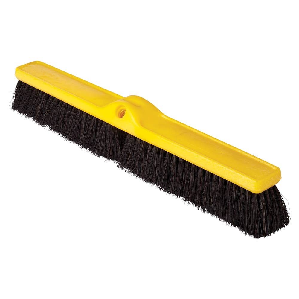"Rubbermaid FG9B1000BLA 24"" Floor Sweep - Plastic Block, Tampico Fill, Black"