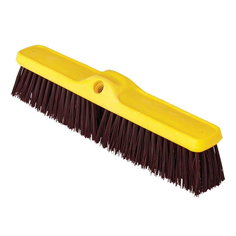 "Rubbermaid FG9B1500MARN 18"" Push Broom Head - Plastic/Poly Fill, Maroon"