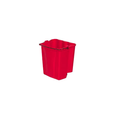 Rubbermaid FG9C7400RED 18 qt Dirty Water Bucket - WaveBrake Combos, Red
