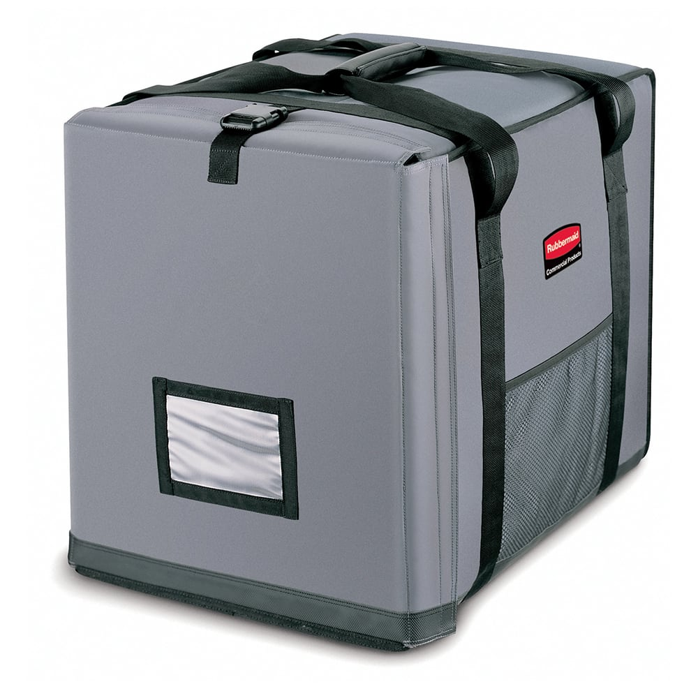 """Rubbermaid FG9F1400CGRAY ProServe™ Food Delivery Bag - 27"""" x 21.5"""" x 29"""", Nylon, Cool Gray"""