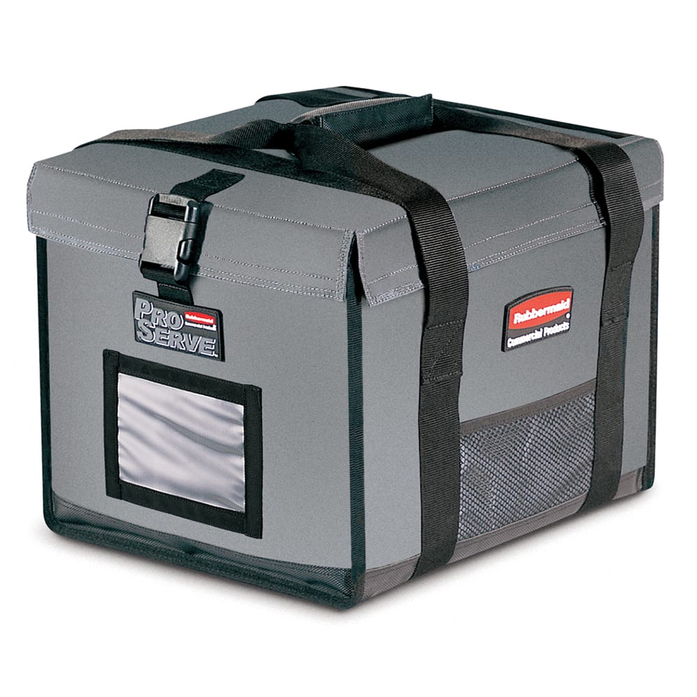 """Rubbermaid FG9F1500CGRAY ProServe™ Food Delivery Bag - 19"""" x 16.75"""" x 15"""", Nylon, Cool Gray"""