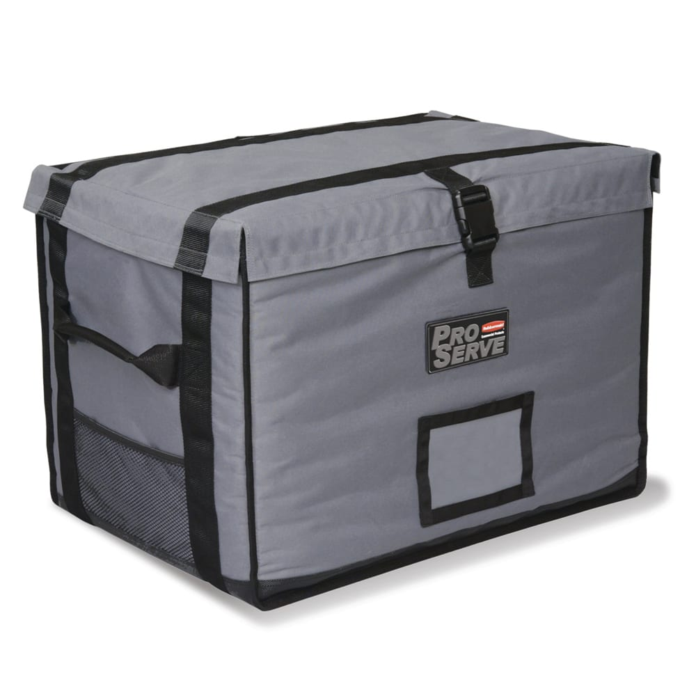 "Rubbermaid FG9F1600CGRAY ProServe™ Food Delivery Bag - 28"" x 19.25"" x 19.5"", Nylon, Cool Gray"