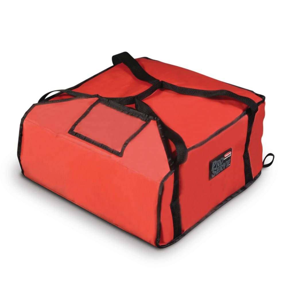 "Rubbermaid FG9F3600RED ProServe Pizza Delivery Bag - 18x17 1/4"" Red"