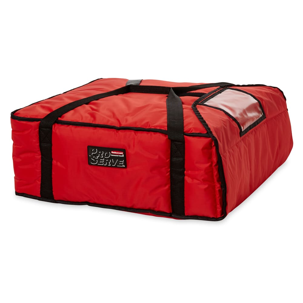 "Rubbermaid FG9F3700RED ProServe Pizza Delivery Bag - 21-1/2x19-3/4x7-3/4"" Red"