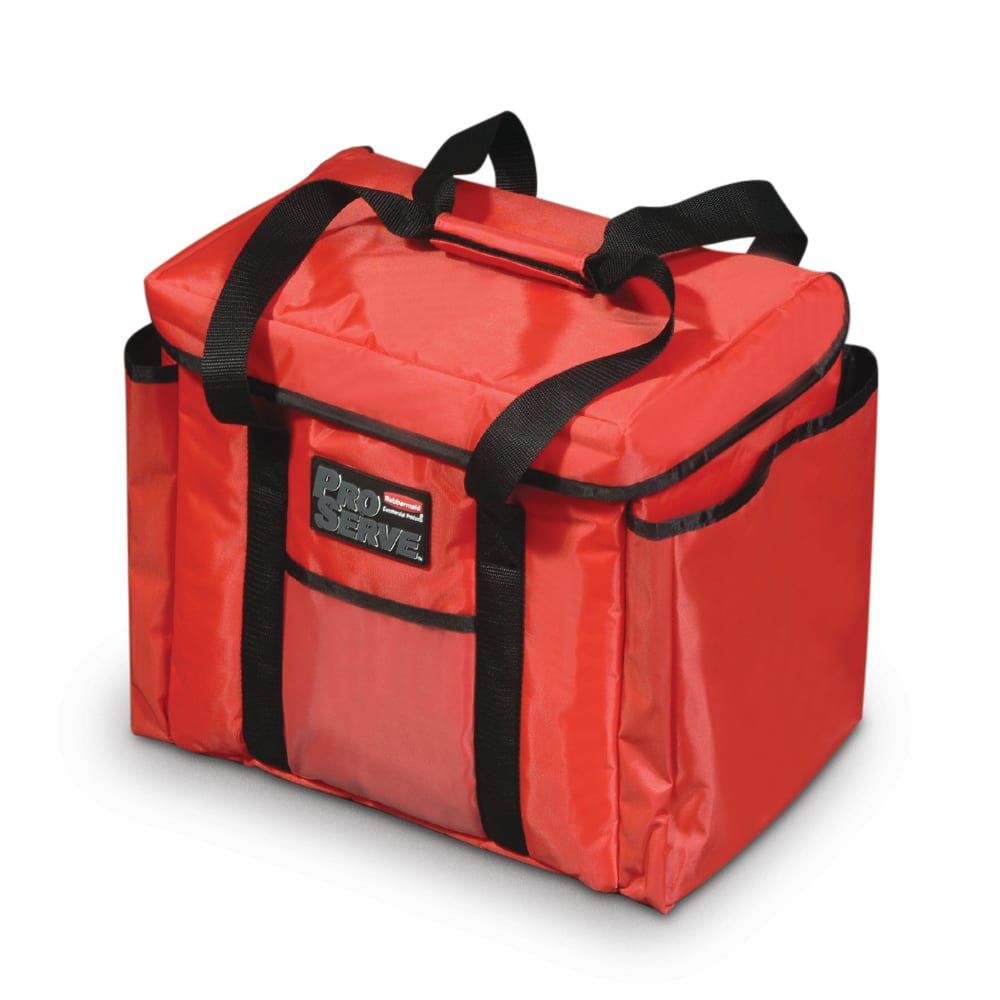 """Rubbermaid FG9F4000RED ProServe Sandwich Delivery Bag - 15x12"""" Red"""