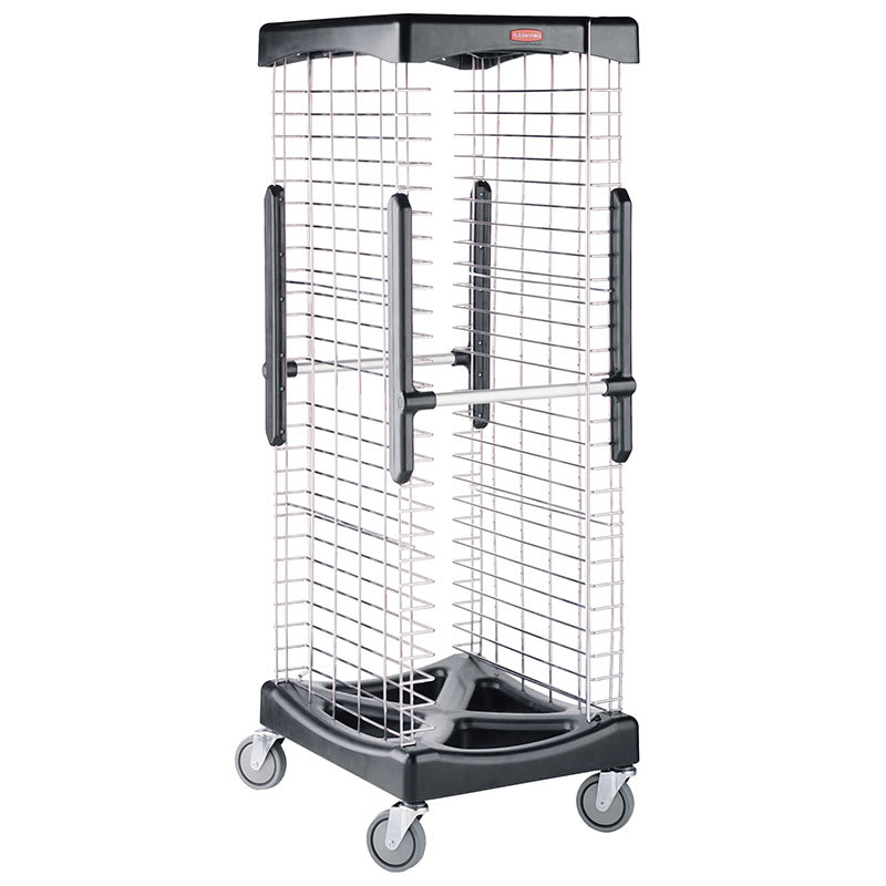 "Rubbermaid FG9F9700BLA 23""W 26 Sheet Pan Rack w/ 2"" Bottom Load Slides"