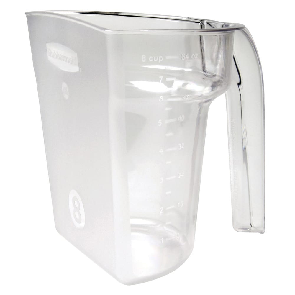 Rubbermaid FG9G5400CLR 64 oz Safety Portioning Scoop - Clear