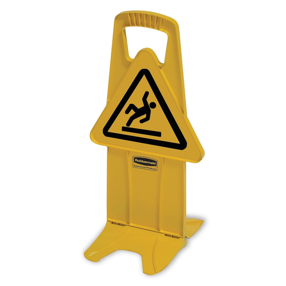 """Rubbermaid FG9S0925YEL Stable Safety Sign - """"Wet Floor"""" Symbol, Yellow"""