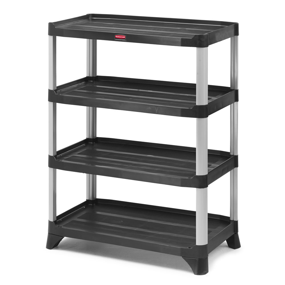 "Rubbermaid FG9T3600BLA Polymer Solid Shelving Unit - 35.125""L x 20""W x 45.875""H"
