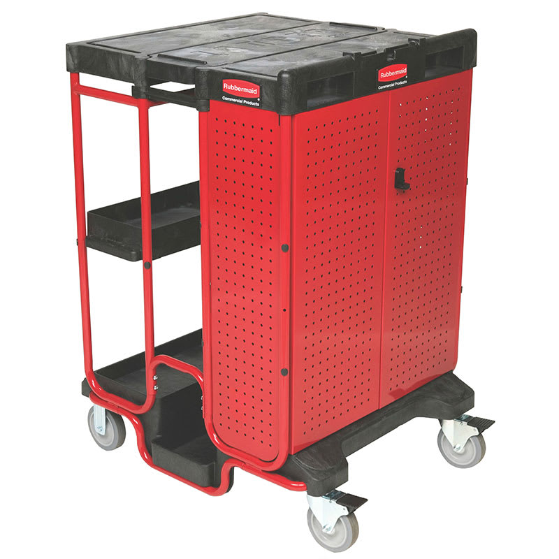 Rubbermaid FG9T5800BLA Ladder Cart w/ 500-lb Capacity, Black